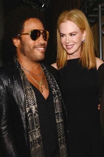 Lenny Kravitz and Nicole Kidman