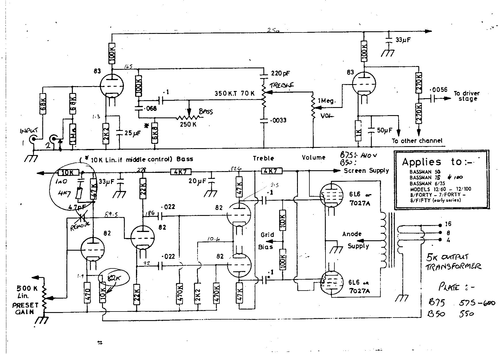 Ibanez Amp Schematic