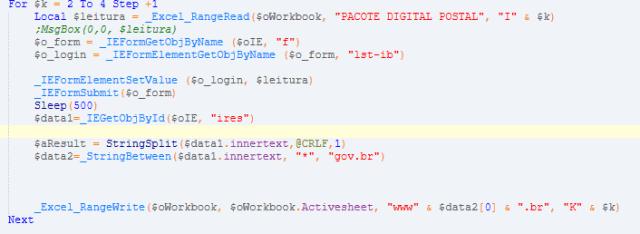 Estudar Algoritmos: Tela com códigos de programação