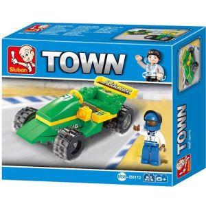 SLUBAN Τουβλάκια Town, Racing Car M38-B0172, 63τμχ   Παιχνίδια   elabstore.gr
