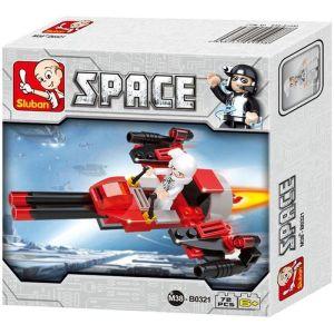 SLUBAN Τουβλάκια Space, Space Bomber M38-B0321, 72τμχ   Παιχνίδια   elabstore.gr