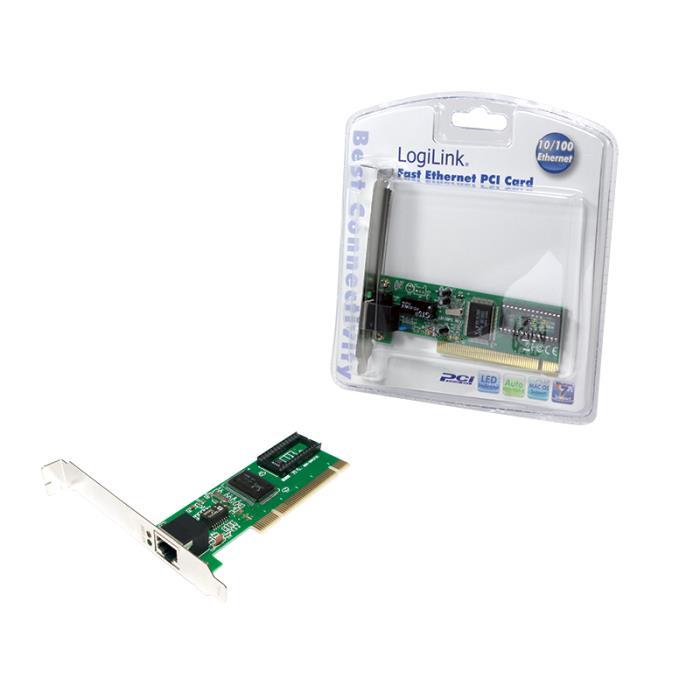 Pci Fast Ethernet lan card Logilink PC0039   PCI CARDS   elabstore.gr