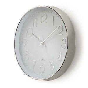 NEDIS CLWA015PC30SR Circular Wall Clock, 30 cm Diameter, White & Silver | ΜΙΚΡΟΣΥΣΚΕΥΕΣ / ΕΠΟΧΙΑΚΑ / ΛΕΥΚΕΣ ΣΥΣΚΕΥΕΣ | elabstore.gr