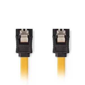 NEDIS CCGP73250YE05 SATA 6Gb/s Data Cable, SATA 7-pin Female with Lock - SATA 7- | ΚΑΛΩΔΙΑ / ADAPTORS | elabstore.gr
