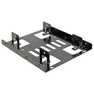 "DELOCK Tray μετατροπής από 3.5"" σε 2x 2.5"", Metal, Black | Συνοδευτικά PC | elabstore.gr"