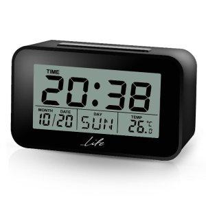LIFE ACL-201 Alarm clock with Thermometer black | ΜΙΚΡΟΣΥΣΚΕΥΕΣ / ΕΠΟΧΙΑΚΑ / ΛΕΥΚΕΣ ΣΥΣΚΕΥΕΣ | elabstore.gr