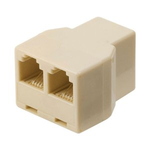 NEDIS TCGP90990IV Telecom Splitter RJ11 Female - 2x RJ11 Female Ivory | ΚΑΛΩΔΙΑ / ADAPTORS | elabstore.gr