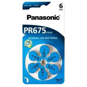 PANASONIC μπαταρίες ακουστικών βαρηκοΐας PR675, mercury free, 1.4V, 6τμχ   Μπαταρίες   elabstore.gr