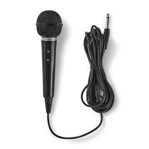 NEDIS MPWD01BK Wired Microphone -75 dB +/-3dB Sensitivity 80 Hz - 12 kHz 5.0m | ΕΙΚΟΝΑ / ΗΧΟΣ | elabstore.gr