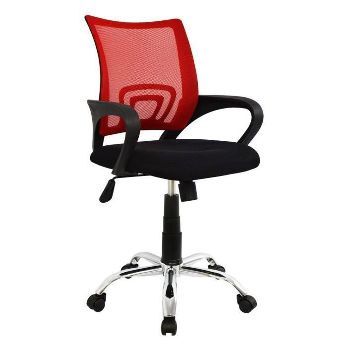 POWERTECH Καρέκλα γραφείου PT-728, ρυθμιζόμενη, με υποβραχιόνια, κόκκινη | Αναλώσιμα - Είδη Γραφείου | elabstore.gr