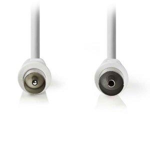 NEDIS CSGP40000WT50 Coax Cable 90dB IEC (Coax) Male - IEC (Coax) Female 5.0 m Wh | ΚΑΛΩΔΙΑ / ADAPTORS | elabstore.gr