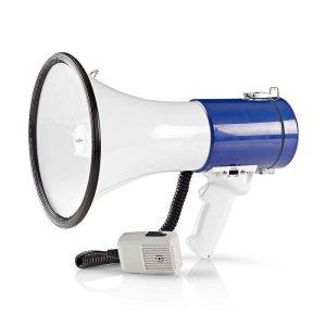 NEDIS MEPH200WT Megaphone 25 W 1500 m Range Detachable Microphone White/Blue   ΗΛΕΚΤΡΟΝΙΚΑ / ΕΡΓΑΛΕΙΑ   elabstore.gr
