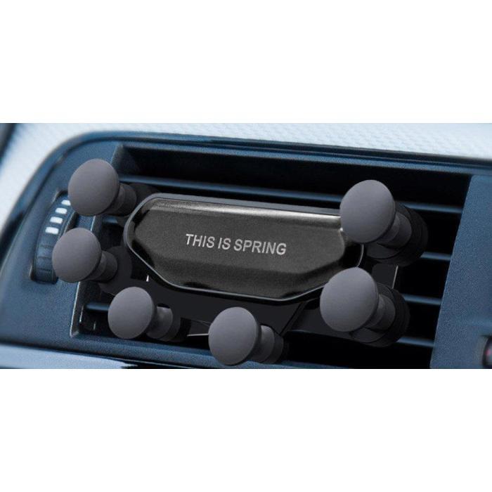 Βάση αεραγωγού αυτοκινήτου για smartphone ACC-243, καφέ   Αξεσουάρ κινητών   elabstore.gr