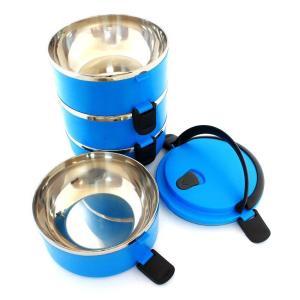 Δοχείο φαγητού AG479D με επένδυση inox, σετ 4τμχ, μπλε | Οικιακές & Προσωπικές Συσκευές | elabstore.gr