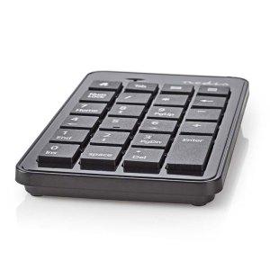 NEDIS KBNM100BK Wired Numeric Keypad USB Black | ΠΕΡΙΦΕΡΕΙΑΚΑ Η/Υ & LAPTOP | elabstore.gr