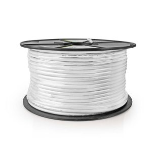 NEDIS SCGR90300WT100 Security Cable on Reel 0.61 + 2x 0.38 100m White | SECURITY | elabstore.gr