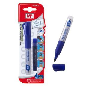 MP Μαρκαδόρος με ανταλλακτικό μελάνι PE496-3, πάχος μύτης 2-3mm, μπλε | Αναλώσιμα - Είδη Γραφείου | elabstore.gr