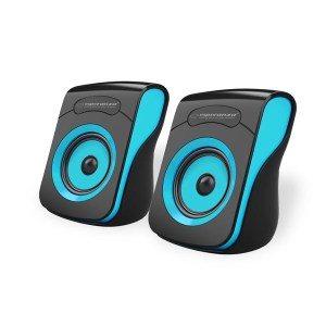 Ηχείο 2.0 USB Μαύρο/Μπλε  EP140KB | ELABSTORE.GR