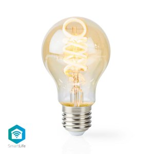 NEDIS WIFILT10GDA60 Wi-Fi Warm to Cool White LED Filament Bulb Twisted E27 A60 5 | ΔΙΚΤΥΑΚΑ / SMART HOME | elabstore.gr
