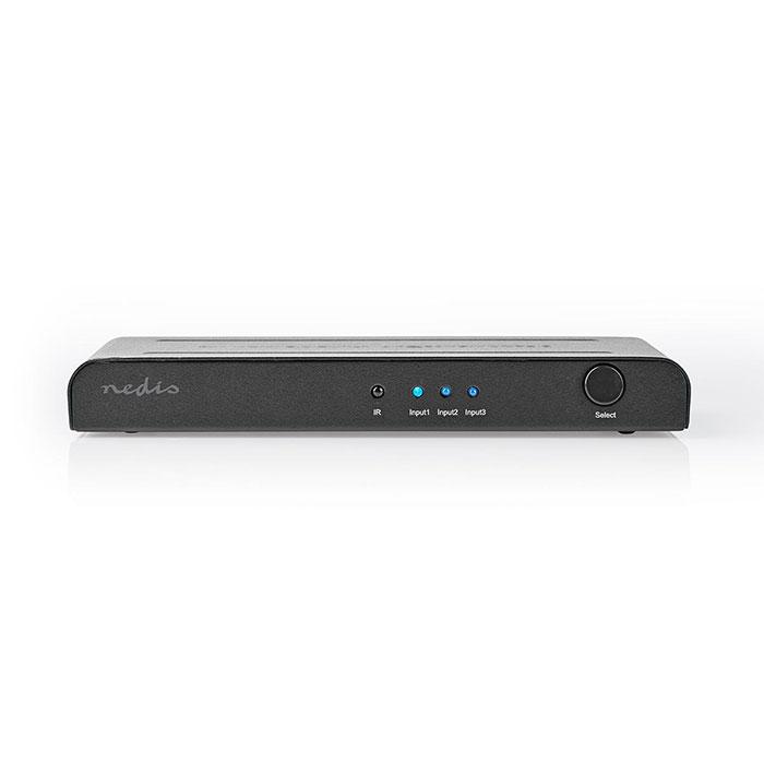 NEDIS VSWI3473AT HDMI Switch 3-Port - 3x HDMI Input 1x HDMI Output 4K2K