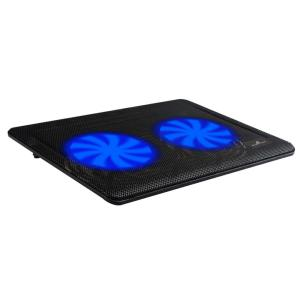 "POWERTECH Βάση & ψύξη laptop PT-738 έως 15.6"", 2x 125mm fan, LED, μαύρο | Αξεσουάρ για Laptop | elabstore.gr"