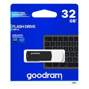 GOODRAM USB Flash Drive UCO2 0320KWR11, 32GB, USB 2.0, μαύρο   Συνοδευτικά PC   elabstore.gr