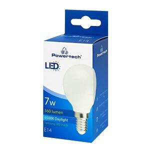 POWERTECH LED Λάμπα Mini Globe E14-008 7W, 6500K, E14, Samsung LED, IC   Φωτισμός   elabstore.gr