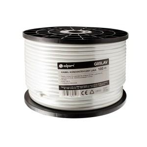 Καλώδιο ομοαξωνικό , Χαλκός, 100m, 6,7mm, λευκό G05LAV   Ήχου & Εικόνας   elabstore.gr