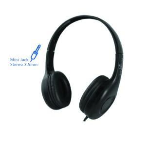 Ακουστικό με μικρόφωνο μαύρο TH114   Περιφερειακά   elabstore.gr