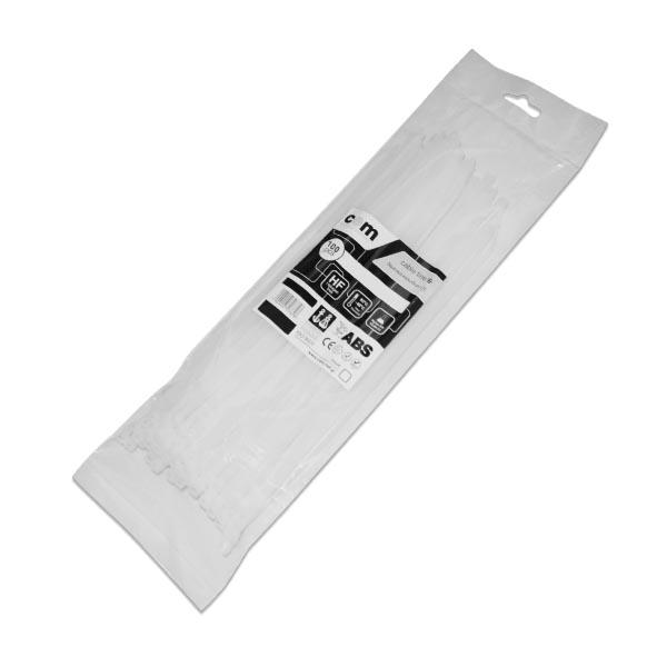Δεματικά καλωδίων  Λευκά 7.6 x 450mm 100τεμ/Συσκ COM   Ηλεκτρολογικά   elabstore.gr