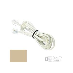 Καλώδιο 3M Μπεζ σύνδεσης Rj11 6p4c | Δικτυακά & Τηλεφωνίας | elabstore.gr