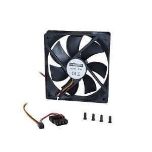 """Fan/Cooler 12""""For Computer Case Black   Περιφερειακά   elabstore.gr"""