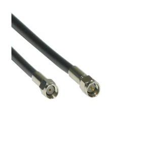 ANTENNA CABLE MALE REVERSED - SMA to MALE SMA - LMR200 2M BK   Δικτυακά & Τηλεφωνίας   elabstore.gr