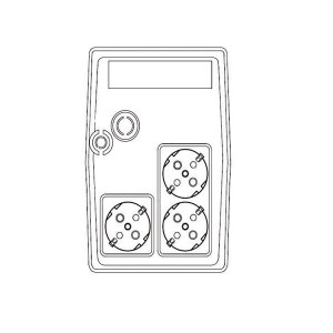 UPS 1200VA Well LINE INTERACTIVE UPS-LINT-STARK1200-WL | Προστασία Ρεύματος UPS | elabstore.gr