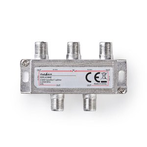 NEDIS SSPL410ME Satellite F-Splitter Max. 11.5 dB Insertion loss 5 - 2400 MHz 4 | ΕΙΚΟΝΑ / ΗΧΟΣ | elabstore.gr