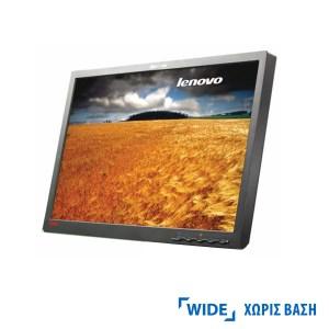 "Used Monitor L2240p TFT/Lenovo /22""/1680x1050/wide/Silver/Black/No Stand/D-SUB & DVI-D | Refurbished | elabstore.gr"