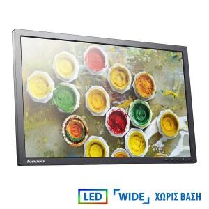 "Used Monitor T2324p LED/Lenovo/23""/1920x1080/wide/Black/No Stand/Grade B/D-SUB & HDMI & USB HUB | Refurbished | elabstore.gr"