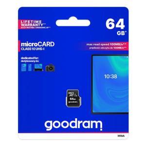 GOODRAM κάρτα μνήμης M1AA microSDΧC UHS-1, 64GB, Class 10 | Συνοδευτικά PC | elabstore.gr