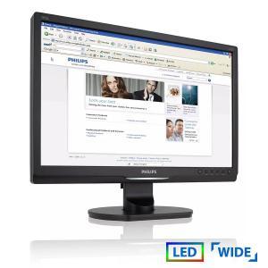 "Used Monitor 190sl LED/Philips/19""/1440x900/wide/Black/VGA & DVI-D   Refurbished   elabstore.gr"