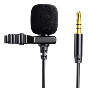 JOYROOM καλώδιο 3.5mm με ενσωματωμένο clip-on μικρόφωνο JR-LM1 2m, μαύρο   Συνοδευτικά PC   elabstore.gr