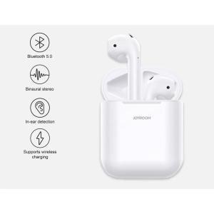 JOYROOM earphones με θήκη φόρτισης JR-T03S, true wireless, λευκά   Αξεσουάρ κινητών   elabstore.gr