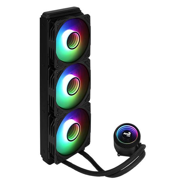 AEROCOOL liquid cooler MIRAGE-L360, 120mm, LED RGB, 3x fans   PC & Αναβάθμιση   elabstore.gr