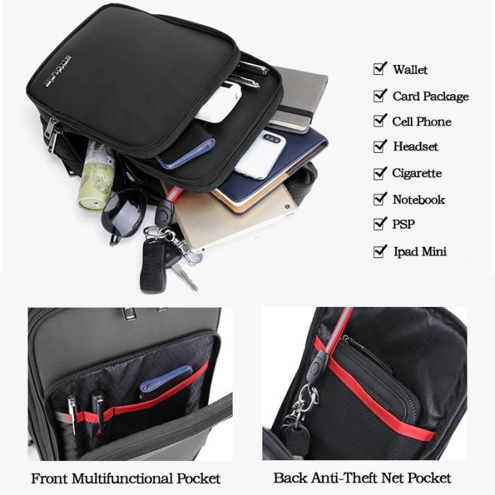 ARCTIC HUNTER τσάντα Crossbody XB00111-BK, αδιάβροχη, μαύρη | Οικιακές & Προσωπικές Συσκευές | elabstore.gr