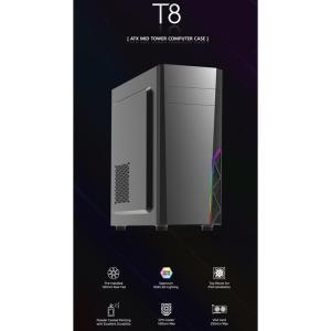 ZALMAN PC case ATX mid tower T8, 394.5x200x423mm, 1x fan | PC & Αναβάθμιση | elabstore.gr