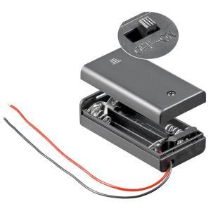 GOOBAY θήκη μπαταρίας με διακόπτη 12443, 2x AA LR6, αδιάβροχη, μαύρη | Εργαλεία | elabstore.gr