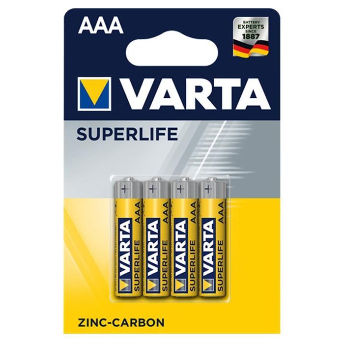 VARTA Superlife Zinc Carbon μπαταρία 45182, AAA R03, 4τμχ | Μπαταρίες | elabstore.gr