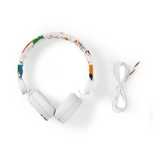 NEDIS HPWD4104WT Wired Headphones 1.2m Round Cable On-ear Elephant White   ΕΙΚΟΝΑ / ΗΧΟΣ   elabstore.gr