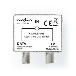 NEDIS CSGP40970ME Satellite & Antenna Adapter F-Female / IEC (Coax) Male IEC (Co   ΚΑΛΩΔΙΑ / ADAPTORS   elabstore.gr