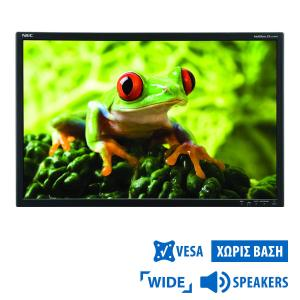 Used Monitor EA241W TFT/NEC/24/1920x1200/Wide/Black/No Stand/Grade B/w/Speakers/D-SUB & DVI-D & DP &   Refurbished   elabstore.gr