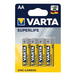 VARTA Superlife Zinc Carbon μπαταρία 738676, AA R6, 4τμχ | Μπαταρίες | elabstore.gr